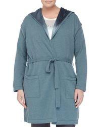 Marina Rinaldi - Blue Madera Knit Jacket W/ Silk Lining - Lyst