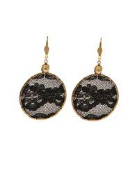 Clemmie Watson - Black Lace Hoop Earrings - Lyst