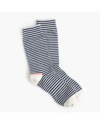 J.Crew | Blue Tipped Striped Socks | Lyst