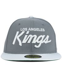 KTZ - Gray Los Angeles Kings Team Color 59Fifty Cap for Men - Lyst