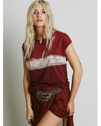 Free People - Purple We The Free Womens We The Free Thunder Tee - Lyst