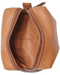 Fossil   Brown Gifts Leather Travel Bag   Lyst