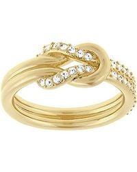 Swarovski - Metallic Voile Ring - Lyst