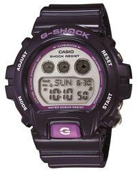G-Shock - Women's Digital Dark Blue Resin Strap Watch 49x46mm Gmds6900cc-2 - Lyst