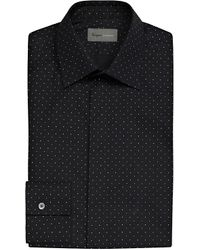 Kilgour - Blue Polka-dot Cotton Shirt for Men - Lyst