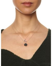 Laura Lee | Purple Rose Gold English Coin Necklace | Lyst