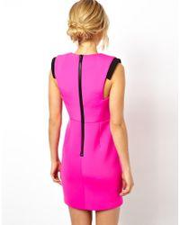 ASOS - Pink Premium Structured Body-conscious Dress - Lyst