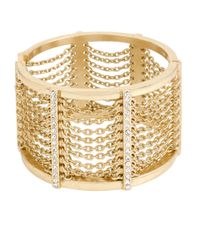 Kenneth Cole | Metallic Gold-tone Multi-chain Bangle Bracelet | Lyst