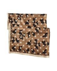 Marc By Marc Jacobs Gray Dotty Flora Scarf