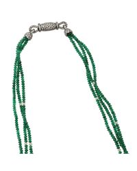 Arunashi | Green Emerald And Opal Flower Necklace | Lyst