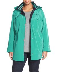 Gallery | Green Two-tone Silk Look Anorak | Lyst