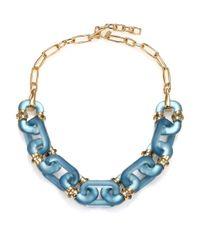 Alexis Bittar | Blue Sport Deco Lucite Link Necklace | Lyst