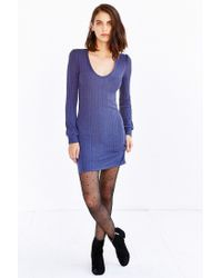 Kimchi Blue | Blue Lilac Blouson Sweaterknit Mini Dress | Lyst