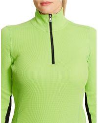 Lauren by Ralph Lauren | Green Plus Waffle-knit Mockneck Pullover | Lyst