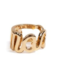 Marc By Marc Jacobs - Metallic Marc Script Ring - Lyst