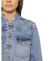 Off-White c/o Virgil Abloh - Blue Spray Paint Washed Cotton Denim Jacket - Lyst