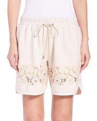 3.1 Phillip Lim | Beige French Terry Shorts | Lyst