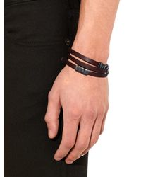 Bottega Veneta | Brown Wraparound Leather Bracelet for Men | Lyst