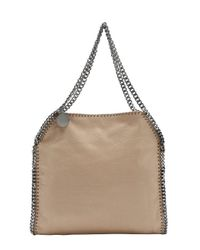 Stella McCartney - Natural Beige Vegan Suede 'Falabella' Shoulder Bag - Lyst