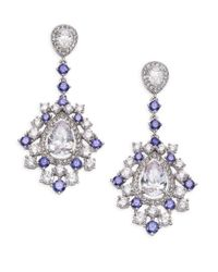 Adriana Orsini | Metallic Sweet Embrace Cluster Linear Drop Earrings | Lyst