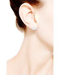 Dana Rebecca - Blue One Of A Kind Opal Earrings in 14k White Gold - Lyst