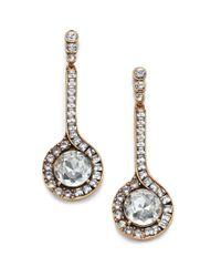 Oscar de la Renta - Blue Jeweled Pendant Drop Earrings - Lyst