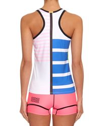 Monreal London | White Signature Performance Racer-back Tank Top | Lyst