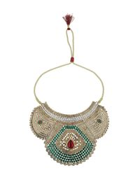 TOPSHOP - Multicolor Premium Embellished Necklace - Lyst