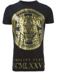 Philipp Plein - Black 'medallion' T-shirt for Men - Lyst