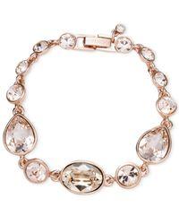 Givenchy - Metallic Rose Gold-Tone Crystal Flex Bracelet - Lyst