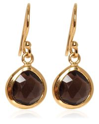 Dinny Hall | Metallic Gold Vermeil Smoky Quartz Jaipur Drop Earrings | Lyst