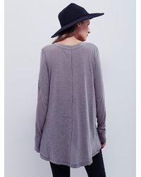 Free People - Gray We The Free Anna Tee - Lyst