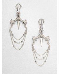 Stephen Webster - Metallic Sterling Silver Chandelier Earrings - Lyst