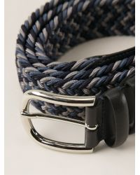 Canali | Blue Braided Belt for Men | Lyst