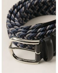 Canali - Blue Braided Belt for Men - Lyst