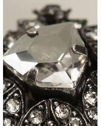 Lanvin - Metallic Crystal Earrings - Lyst