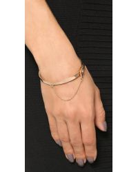 Eddie Borgo | Pink Extra Thin Safety Chain Bracelet - Rose Gold | Lyst