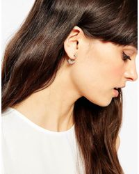 ASOS | Metallic Delicate Stone Swing Earrings | Lyst