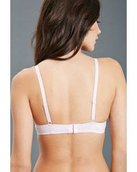 Forever 21 - Pink Lace Double Push-up Bra - Lyst