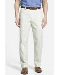 Bills Khakis | Natural 'm2' Standard Fit Flat Front Cotton Poplin Trousers for Men | Lyst