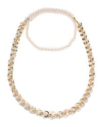 Eddie Borgo - Metallic Orbiting Pearl Chain Long Necklace - Lyst