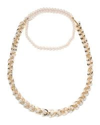 Eddie Borgo | Metallic Orbiting Pearl Chain Long Necklace | Lyst