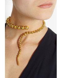 Paula Mendoza | Metallic Glaucus Beaded Coil Necklace | Lyst