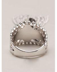 Eddie Borgo - Metallic Chain Tassel Ring - Lyst