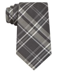 DKNY | Gray Oversized Plaid Slim Tie for Men | Lyst