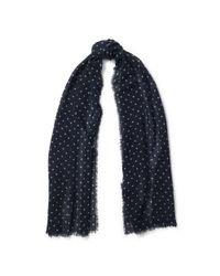 Pink Pony | Blue Polka-dot Wool Scarf | Lyst
