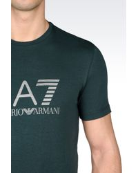 EA7 | Green Visibility Line Jersey T-shirt for Men | Lyst