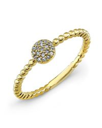 Anne Sisteron - 14kt Yellow Gold Diamond Stacking Ring - Lyst