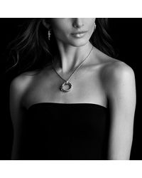 David Yurman | Metallic X Pendant Necklace With Diamonds | Lyst
