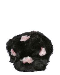 Kreisi Couture - Black Faux Fur Polka Dot Hat With Visor for Men - Lyst